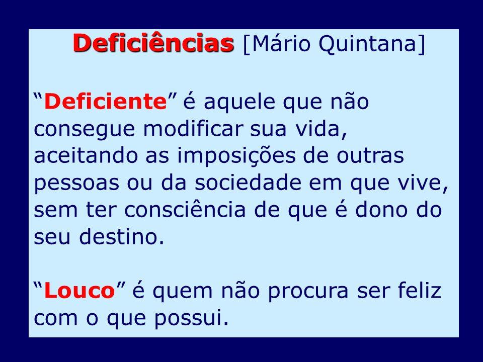 Deficiências [Mário Quintana]